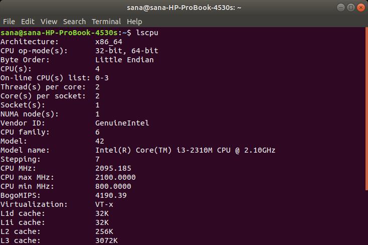 Check CPU Type