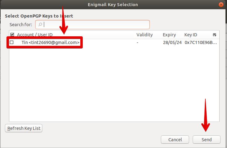 Select OpenPGP Key