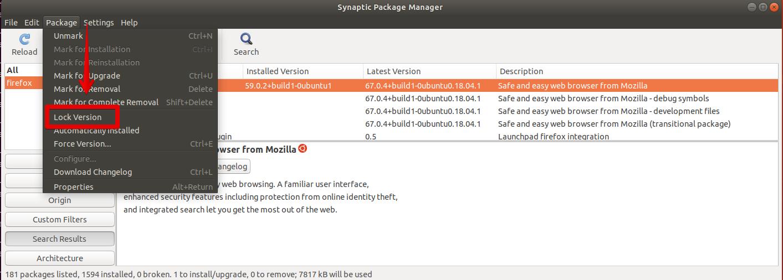 Lock software version