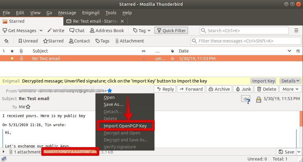 How to use Email Encryption in Ubuntu