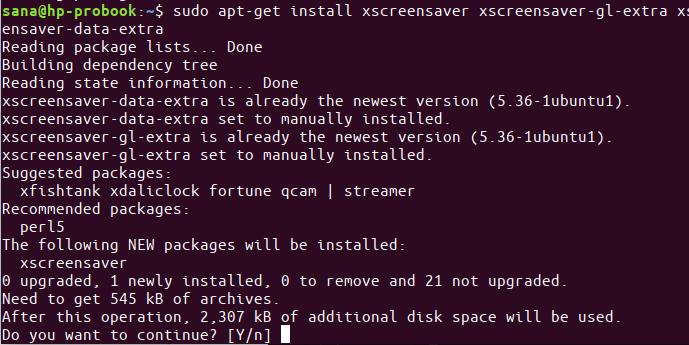 Install Xscreensaver
