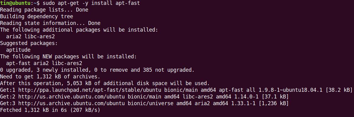 apt-fast installation