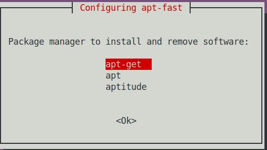 configuring apt-fast