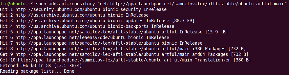 Add Ubuntu PPA repository
