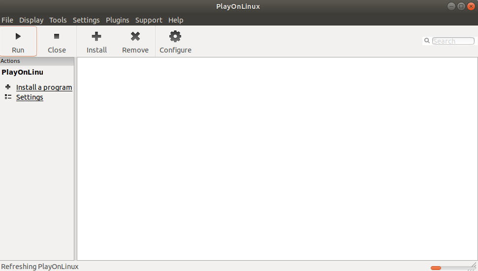 Start PlayOnLinux