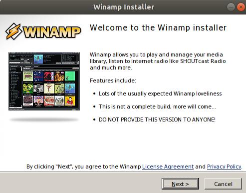 Winamp installer