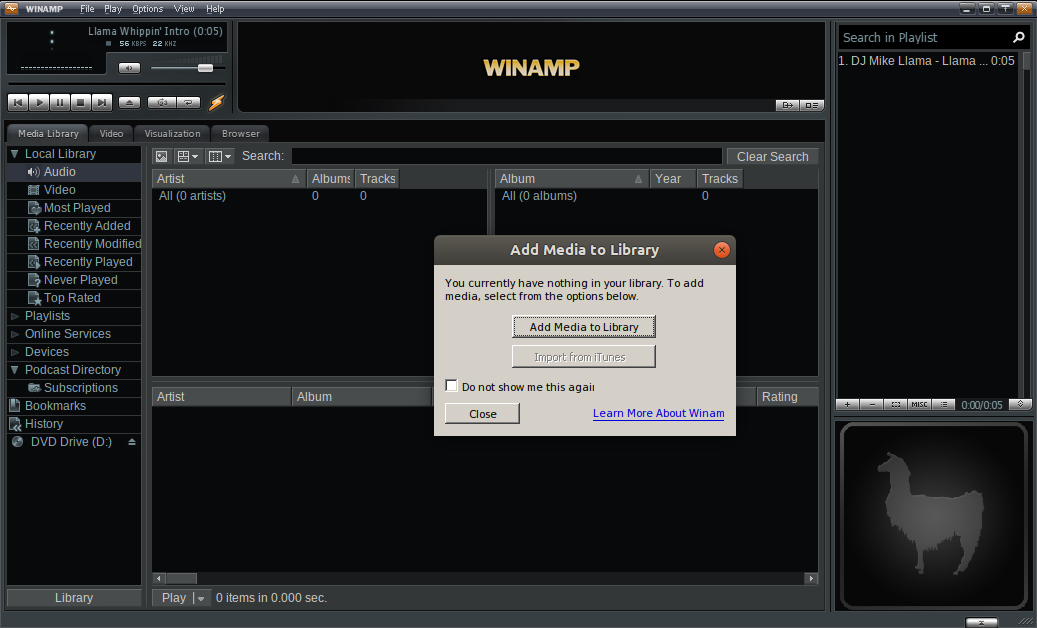 Winamp on Ubuntu Linux