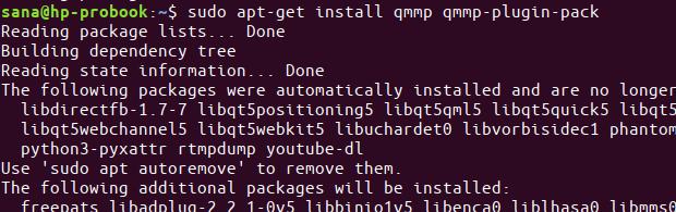 QMMP installation