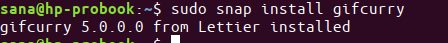 Install GifCurry with snap installer