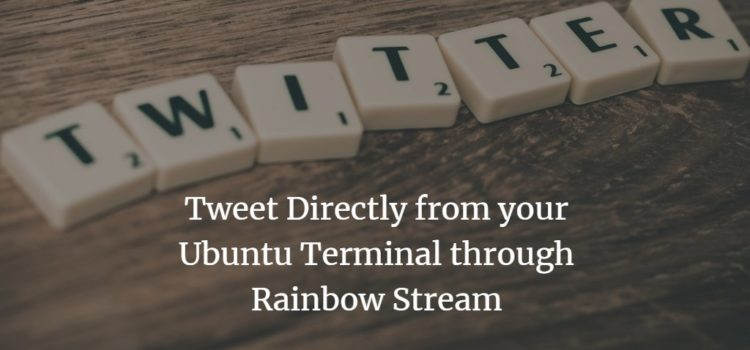 Twitter from Ubuntu Terminal