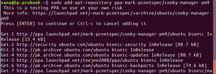 Add Ubuntu ppa repository