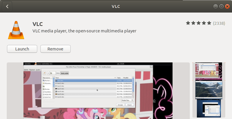 VLC Player successfully installed