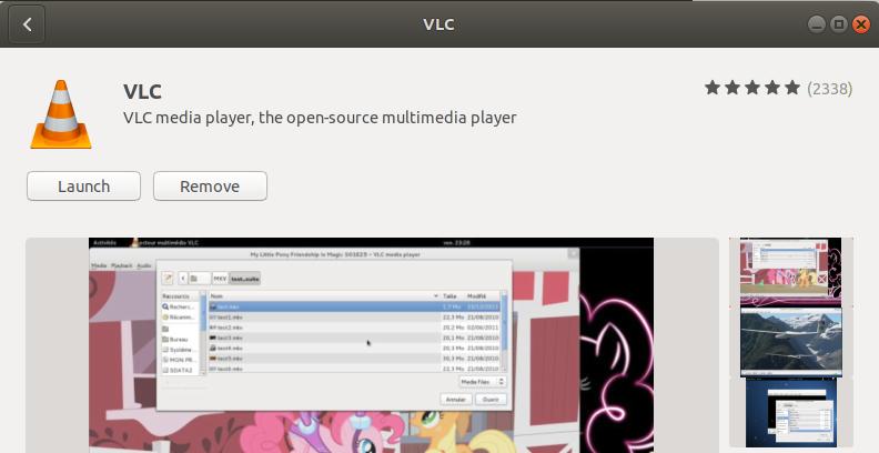 VLC Player instalado com sucesso
