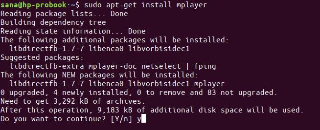 Instalar MPlayer com apt