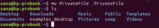 Hide a file