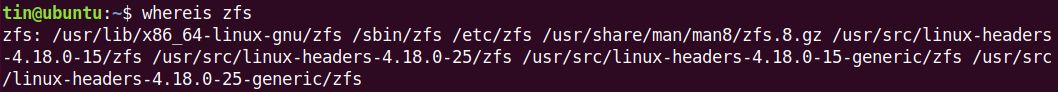 Check if ZFS is installed