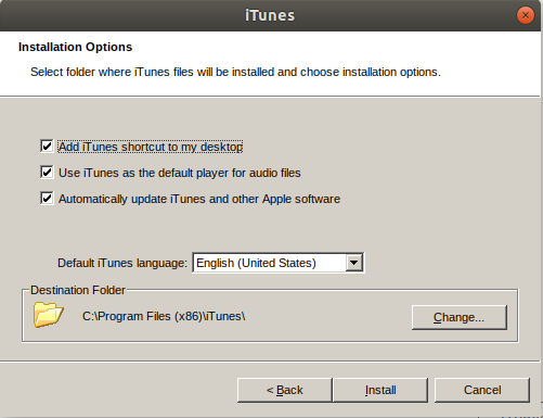 Run the iTunes Installer