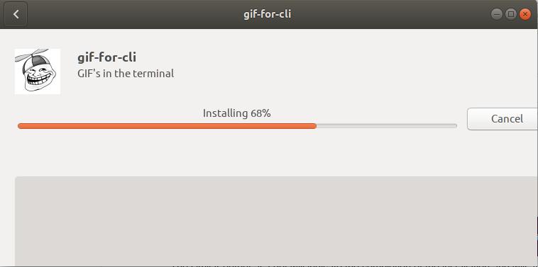Software install progress