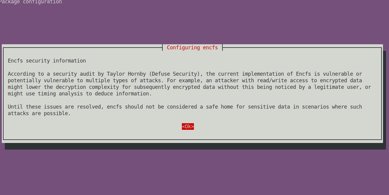 Configuring EncFS