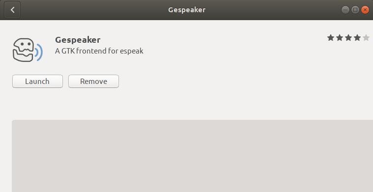 Launch Gespeaker Linux desktop application