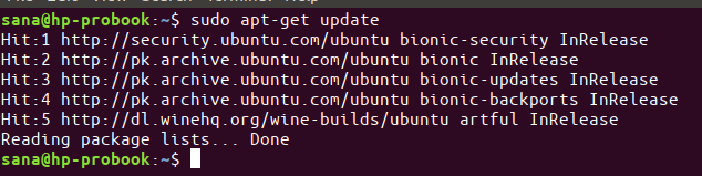 Update Ubuntu Package lists