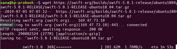 Installing Swift Compiler on Ubuntu