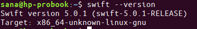 Check swift version