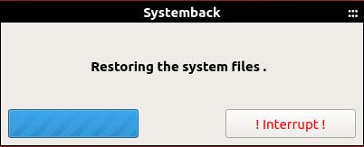 Restoring the system