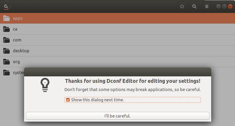 Ubuntu config editing with dconf