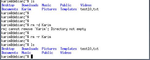 Delete non-empty directory
