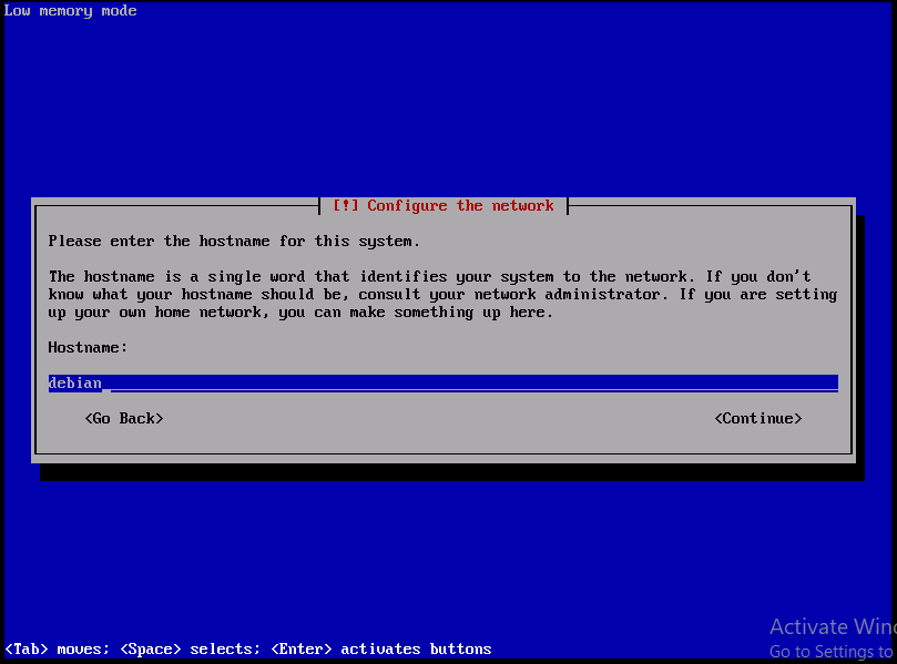 Set system host name