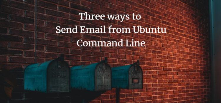 Ubuntu Command Line Email