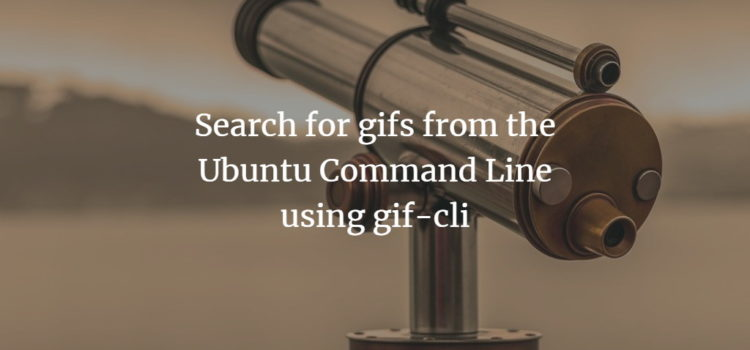Search for gif files with gif-cli program