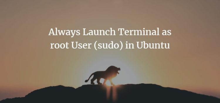 Ubuntu root Terminal