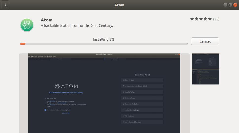 Installing Atom Editor