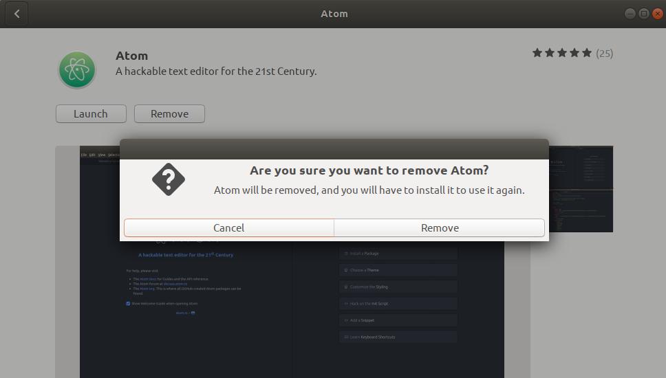 Remove Atom Editor
