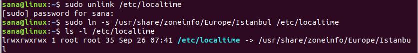 Change timezone on Ubuntu