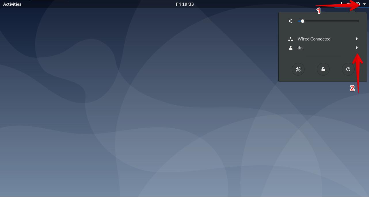 Logout using System menu