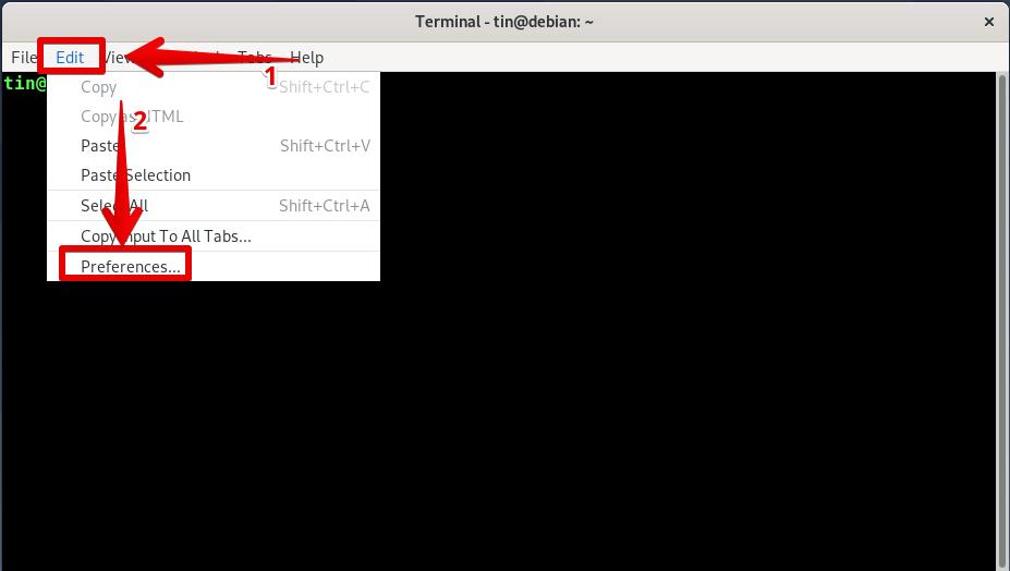 Terminal Preferences
