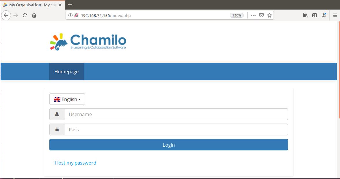 Chamilo website