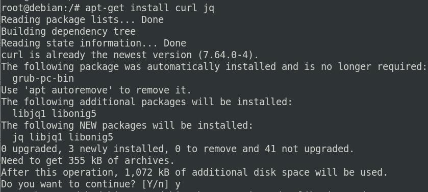 Install curl program