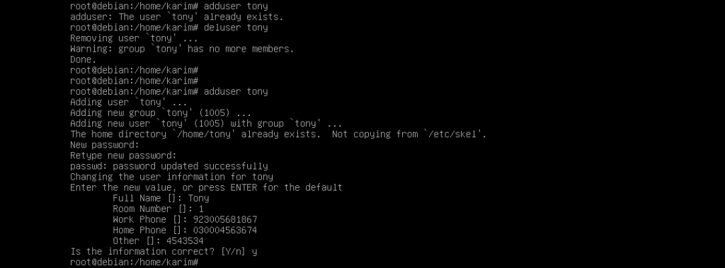 Debian Adduser command