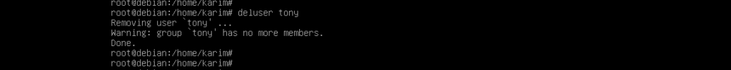 Delete Debian Shell User