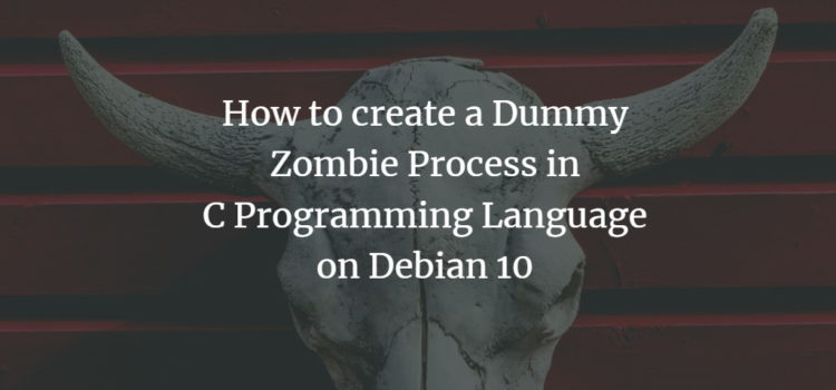 How to create a Dummy Zombie Process in C Programming Language on Debian 10