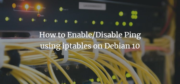 Enable or Disable Ping on Debian