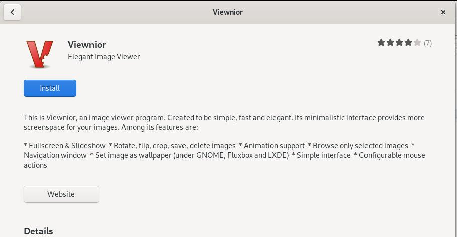Install Viewnior