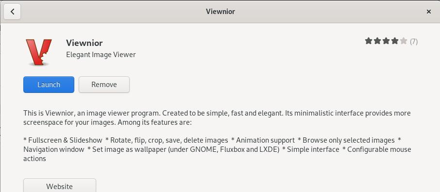 Launch Viewnior