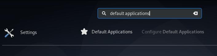 Default applications