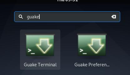 Launch Guake
