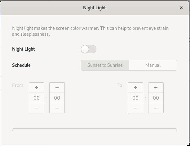 Turn on night-light feature